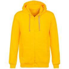 Толстовка на молнии с капюшоном Unit Siverga, желтая фото