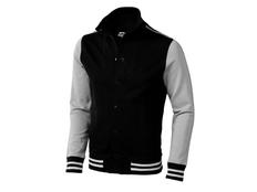 Кофта Slazenger Varsity, черная/ натуральный белый фото