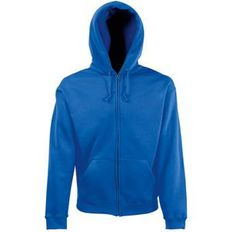 Толстовка мужская Fruit of the Loom Zip Through Hooded Sweat, синяя фото