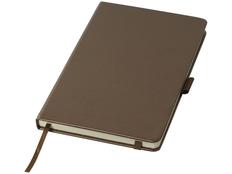 Блокнот в линейку на резинке Journalbooks Metal А5, 96 листов, коричневый фото