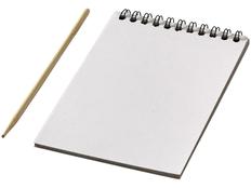 Набор цветной Scratch: блокнот, деревянная ручка, белый фото