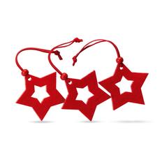Украшение новогоднее из войлока, красное фото
