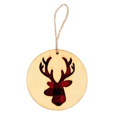 Украшение новогоднее Red Deer, крафт / красное фото