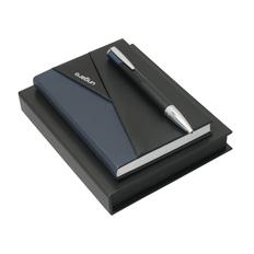 Набор Ungaro: записная книжка, ручка шариковая, темно-синий/ черный фото