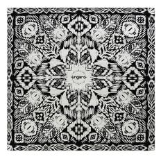 Платок шейный UNGARO Goccia, черный/ белый фото