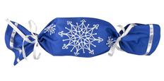 Упаковка в виде конфеты Снежинки, синяя фото