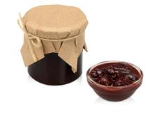 Варенье из вишни с шоколадом и коньяком в подарочной обертке фото