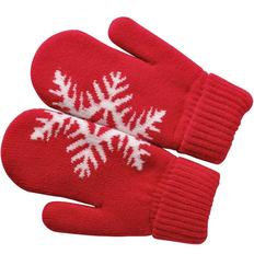 Варежки Сложи снежинку!, М, красные фото