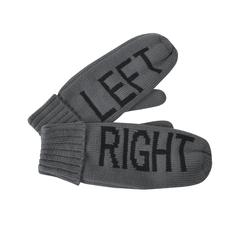 Варежки Left&right, L, акрил/ флис внутри, темно-серые фото
