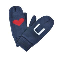 Варежки Love you, синие фото