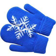 Варежки Сложи снежинку, размер M, синие фото
