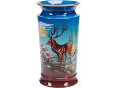 Ваза керамическая Охотничьи мотивы, синий фото