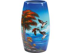 Ваза керамическая Утиная охота, синий фото