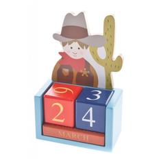 Вечный календарь деревянный, крафт фото