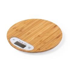 Весы кухонные бамбуковые Hinfex, крафт фото