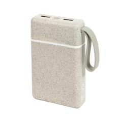Внешний аккумулятор Bizzon Wheat Power 10000 mAh, бежевый фото