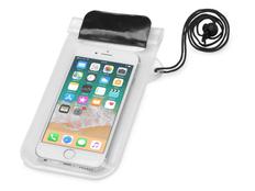 Чехол для телефона водонепроницаемый на шею Mambo, черный/ прозрачный фото