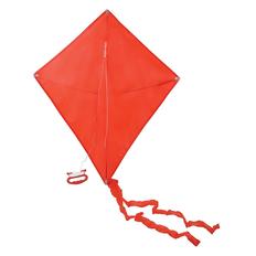 Воздушный змей РОМБ, 70*60 см, полиэстер, красный фото