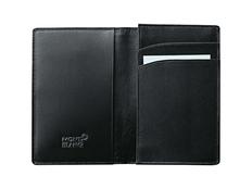 Визитница кожаная 2 отделения для кредитных карт, черный фото