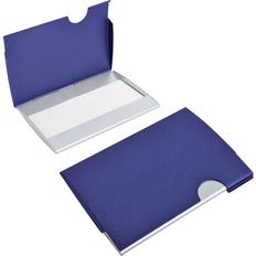 Визитница металлическая Акцент, синяя фото