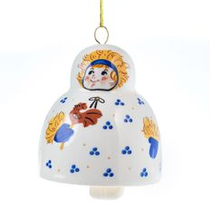 Игрушка-колокольчик Farforite «Ребенок» в подарочной коробке, белая / разноцветная фото