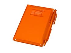 Записная книжка нелинованная с шариковой ручкой Альманах, оранжевая фото