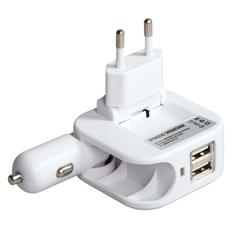 Зарядное устройство сетевое Stride Vemork, белое фото