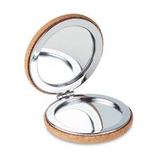 Зеркальце из пробки, коричневое фото