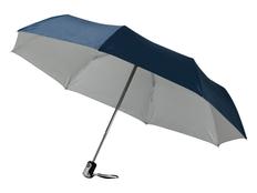 """Зонт складной двухсторонний автомат Alex 21,5"""", классический синий / серый фото"""