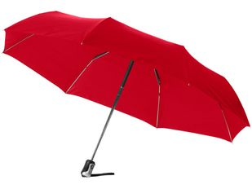 """Зонт складной автомат женский Alex 21,5"""", красный фото"""