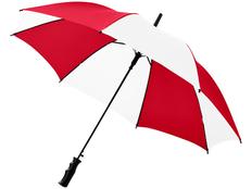 Зонт трость купол сегментами полуавтомат Barry, красный / белый фото