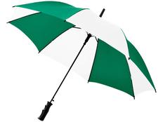 Зонт трость купол сегментами полуавтомат Barry, зеленый / белый фото