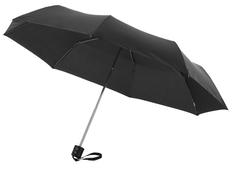 Зонт складной механический Ida, черный фото