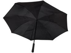 Зонт трость наоборот полуавтомат Marksman Lima, черный фото