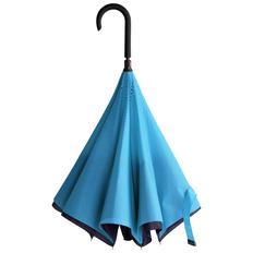 Зонт трость наоборот полуавтомат Unit ReStyle, темно-синий/ голубой фото