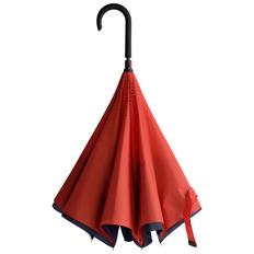 Зонт трость наоборот полуавтомат Unit ReStyle, темно-синий/ красный фото