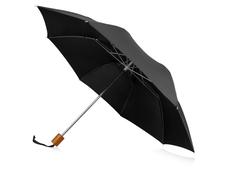 Зонт складной механический Oho, черный фото