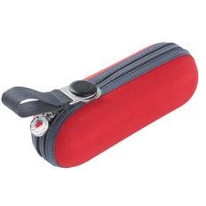 Зонт складной компактный в футляре механический Knirps X1, красный / черный фото