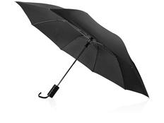 Зонт складной полуавтомат Андрия, черный фото