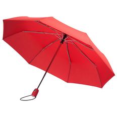 Зонт складной 3 сложения автомат Fare AOC, красный фото