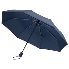 Зонт складной 3 сложения автомат Fare AOC, темно-синий фото