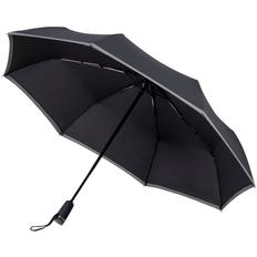 Зонт складной автомат Hugo Boss Gear, черный / темно-серый фото