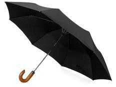 Зонт складной Cary, черный фото