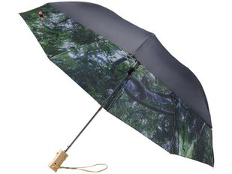 Зонт складной с принтом двухсторонний полуавтомат Avenue Forest, черный / разноцветный фото