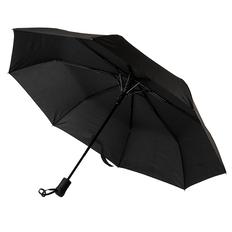 Зонт складной полуавтомат Manchester, черный фото