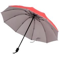 Зонт складной механический Silvermist, красный / серебристый фото