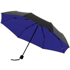 Зонт складной двухсторонний механический с защитой от УФ-лучей Molti Sunbrella, черный / синий фото