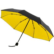 Зонт складной двухсторонний механический с защитой от УФ-лучей Molti Sunbrella, черный / жёлтый фото