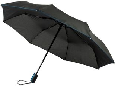 Зонт складной автомат Avenue Stark- mini, черный / голубой фото