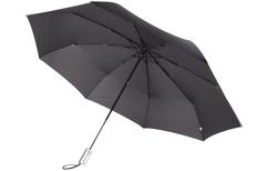 Зонт складной автомат Unit Fiber, черный фото